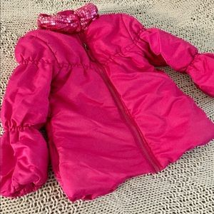 GUC XS 4T Children's Place Pink Puffer Coat Jacket